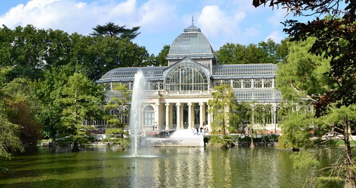 Palacio de Cristal en el Parque de El Retiro, Madrid
