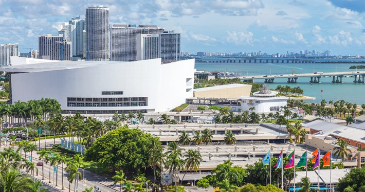 MIAMI, USA - SEPTEMBER 10, 2014 : Aerial image of the American A